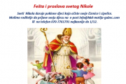 Fešta i proslava svetog Nikole.